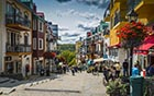 Pedestrian village, resort, Tremblant