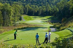 golf course in Tremblant, La Bete