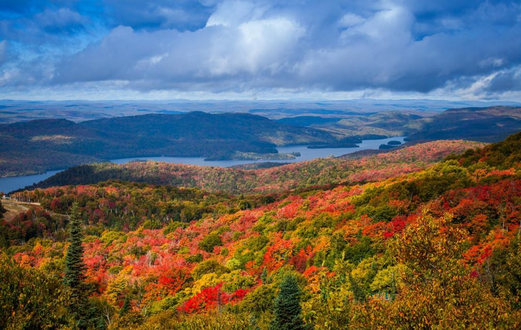 Indian summer, Mont Tremblant, fall colors