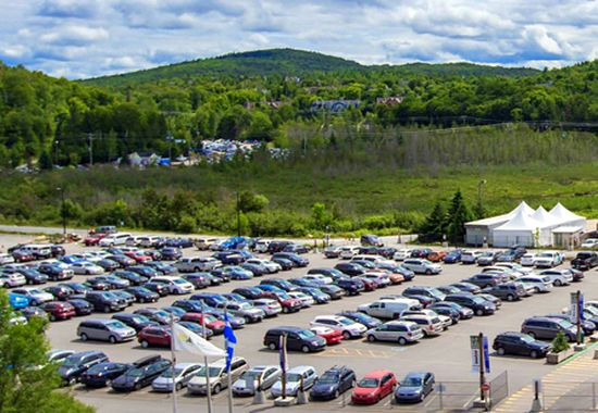 parking lots Tremblant