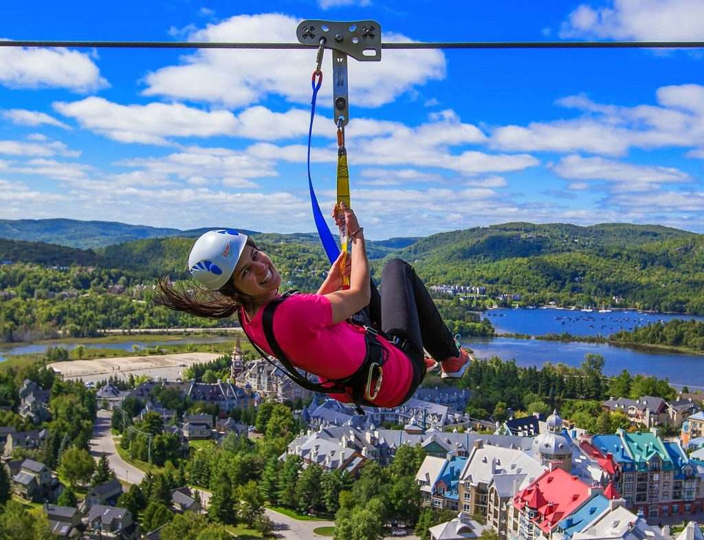 Zip lining in Mont Tremblant, Mont Tremblant summer activities