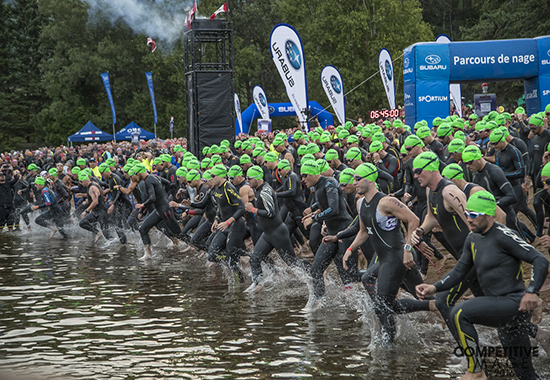 Ironman in Mont Tremblant, swimming