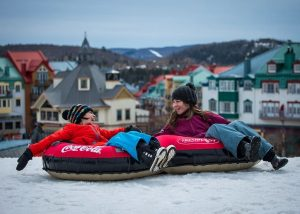 winter activities in Mont Tremblant, snow tubing