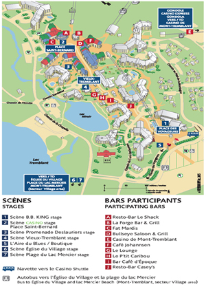 Tremblant Blues festival map