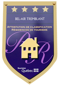 Mont Tremblant accommodations, CITQ classification certificate