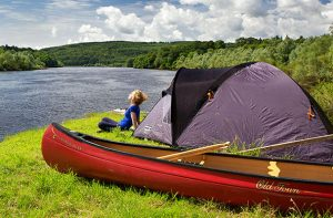 canoe camping in Mont Tremblant