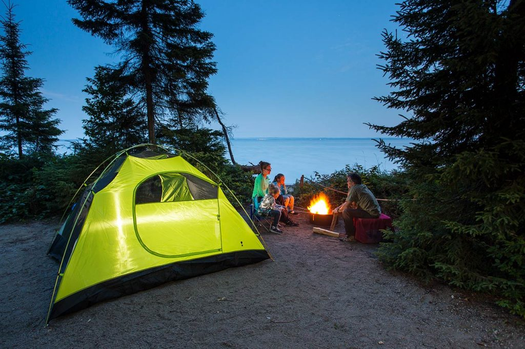 activities in Mont Tremblant, camping