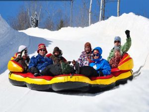 family activities Tremblant, snow tubing