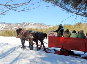 sleigh rides in Mont Tremblant