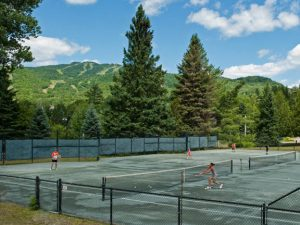tennis courts in Mont Tremblant
